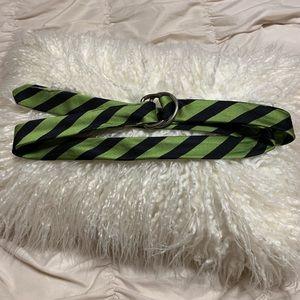 J. Crew Silk Tie Belt Size M/L